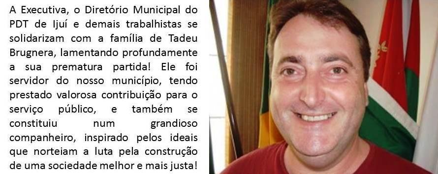 Imagem notícia Falecimento Tadeu